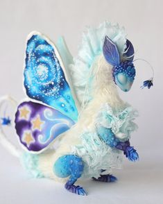 Fallen Star Picker - Flower Butterfly Dragon can be adopted in my shop. Link in bio 🦋 Butterfly Dragon, Foil Paper, Language Of Flowers, Art Things, Pretty Art, Handmade Toys, Plushies, Textile Art, Dragons
