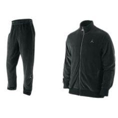 Nike Air Jordan Men's Velour Tracksuit Pants Jacket Set