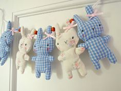More Bunny Garlands! by RubyRed06, via Flickr