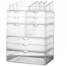 Xinliang® 2016 Makeup organizer Cosmetic Box Acrylic Cosmetic Organizer Makeup Storage Multifunctional Storage Box 7 drawers SF-1302-1245