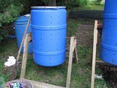 Tips For Composting blue barrel DIY compost bin
