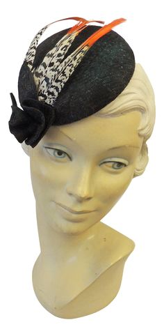 1940s Hats History   New 1940s Retro WW2 Wartime British Harris Tweed & Feather Pill Box Hat $35.97 AT vintagedancer.com