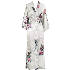 Peacock Blossoms Kimono Robe (37 CAD) ❤ liked on Polyvore featuring  intimates 8a013c1be
