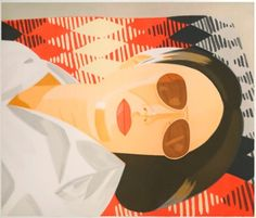 Alex Katz  Reclining Figure / Indian Blanket, 1987  Aquatint