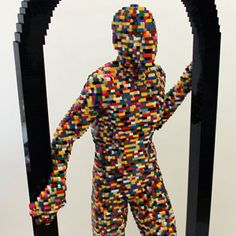 The Art of the Brick - Nathan Sawaya - Career Architecture (Stepping Through)