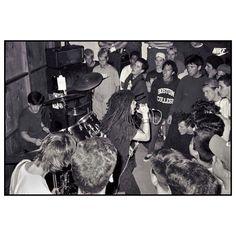 Pic from a garage show in 1990 #SoulSide #ChainofStrength #HardStance #ZackdelaRocha #InsideOut #BoilingPointZine #OCHC #bobbysullivan #dischordrecords