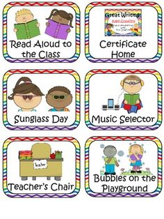 Complete set of fun rewards (lots are free), punch cards to match, loot, etc.  Easy to set up! REWARD COUPONS & COMPLETE STORE SYSTEM - TeachersPayTeachers.com