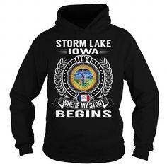 Storm Lake, Iowa It's Where My Story Begins T Shirts, Hoodies. Check price ==► https://www.sunfrog.com/States/Storm-Lake-Iowa-Its-Where-My-Story-Begins-Black-Hoodie.html?41382