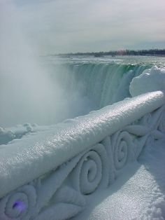 Frozen Niagara Falls #ice #winter #water