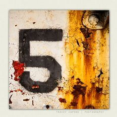 Man Cave Wall Art Urban Photography by TraceyCapone, Urban Photography, Street Photography, Landscape Photography, Number Typography, Man Cave Wall Art, Man Room, Number 5, Mellow Yellow, Urban Landscape