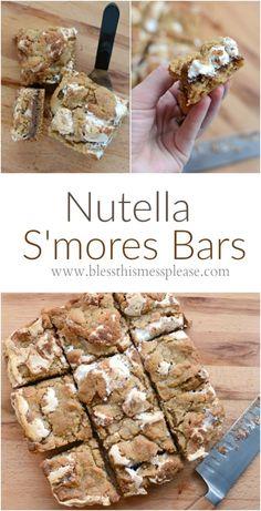Amazing Nutella S'mores Bars recipe