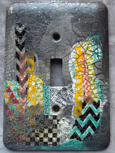 Urban Colors II mixed media light switch cover by TMBakerDesigns