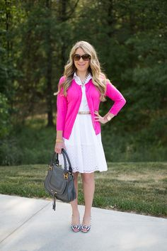 Summer Style Linkup #24: Eyelet Dress