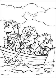 Muppets Fargelegging. Tegninger 50