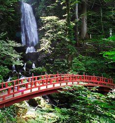Fudo Waterfall by jasohill, via Flickr