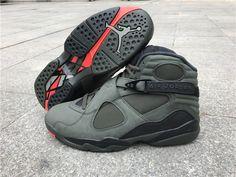 7552e25586b Nike Air Jordan 8 Retro Basketball Shoes Take Flight Grey on  www.offwhiteonline.com
