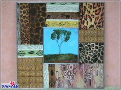 cuadro con decoupage. #manualidades #pinacam #madera #cuadros. #lienzo  www.manualidadespinacam.com