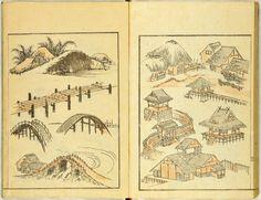 Image gallery: (Denshin kaishu) Hokusai manga, vol. 1 (伝神開手)北斎漫画, 初編 ((Transmitted from the Gods) Random Drawings by Hokusai, vol. Watercolor Inspiration, Art Occidental, Pin Up, Oriental, Small Drawings, Katsushika Hokusai, Japan Art, Japanese Artists, Woodblock Print