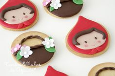 tartas y nubes de azúcar: Cumpleaños con Caperucita Roja - love these cookies!!