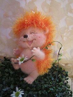 Солнечный СмеЁжик - оранжевый,ежик,корпоративный подарок,рыжий,смех,веселый подарок