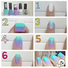 The ombre nail color trend is still a huge hit amongst nail art lovers. If you want to achieve this gorgeous gradient color look at home heres the good news ombre nails are one of the easier nail art techniques that you can do yourself. Ombre Nail Polish, Ombre Nail Colors, Ombre Nail Designs, Nail Polish Art, Diy Nail Designs, Gradient Color, Gel Nails, Toenails, Manicures