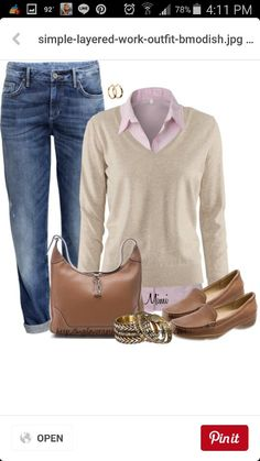 Layered pink button down for fall Casual Work Outfits 23a4d302ea61