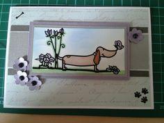 Little claires peel offs handmade card