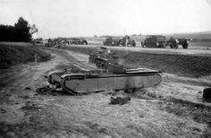 Destroyed Soviet t-35 heavy tank & BT-7 light tanks
