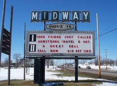 OH Ravenna - Midway Drive-In by scottamus, via Flickr