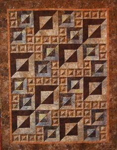Magic Squares Quilt Kit - might end up in the queue. Love the dimensional look.  From Magic Squares Pattern by Helen Knott. via Creations, Kerrville, TX