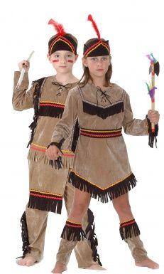 Costume coppia indiani bambini Costumi coppia fd625cb5573