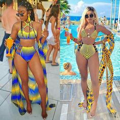 I really dont mind heading to the pool in this super fabulous Ankara swimsuit sets by the mega talented ofuure. See how mariipvzz killed it! Girl, you are a Queen! I hail . Latest African Fashion Dresses, African Print Fashion, Ankara Fashion, Africa Fashion, African Prints, African Fabric, Swimwear Fashion, Bikini Fashion, Sporty Swimwear