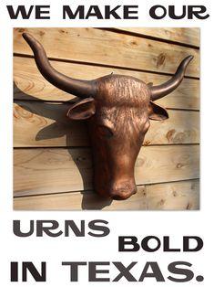 Art Smart Bronzed Effect Long Horn Bull Skull With Gun Bronze Sculpture Home Decoration Fine Craftsmanship