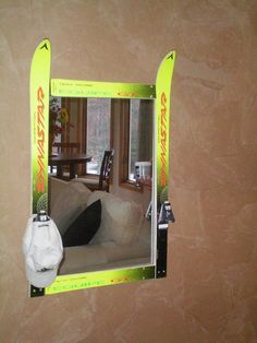 Repurposed ski mirror by FoggyGoggleDesigns on Etsy