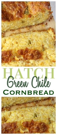 Combine fresh Hatch green chiles and cheese to make this moist, cheesy hatch green chile cornbread with a little kick! Perfect to serve with your next bowl of chili or eat as is!