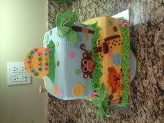 Zoo animals - baby shower cake