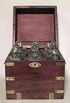 English Victorian accessories decanter mahogany