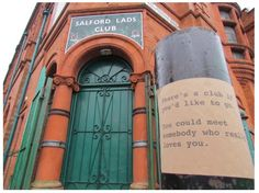 Salford lads club Morrissey sticker project