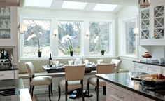 kitchen-that-has-large-windows - Home Decorating Trends - Homedit