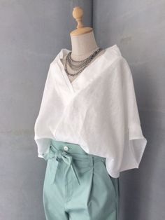 Feminine White Shirt For Working Outfit Love Fashion, Fashion Looks, Fashion Outfits, Womens Fashion, Fashion Design, Fashion Trends, Looks Style, My Style, Only Shirt