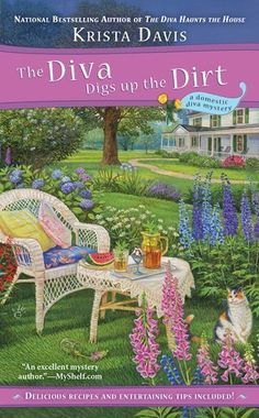 Great cozy mystery series. The Diva Digs Up the Dirt (A Domestic Diva Mystery) by Krista Davis, http://www.amazon.com/dp/0425251349/ref=cm_sw_r_pi_dp_9an2pb1R5C2A9