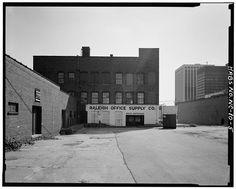 5.  Rear facade - Barber-Towler Building (Commercial Building), 123 East Martin Street, Raleigh, Wake County, NC