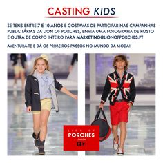 Casting Kids l Girls & Boys Preparado(a) para participar em campanhas publicitárias Lion of Porches?