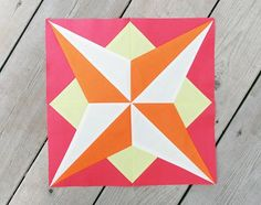 Learn Foundation Paper Piecing while making the Star block from the Summer Sampler Series at Fresh Lemons Quilts