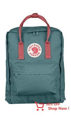 Fjallraven Kånken Classic Backpack Frost Green/Peach Pink - Fjallraven #giftideas #citybag