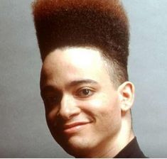 This is a tutorial on how to do a High Top Fade (aka Hi Top Fade). Read below for the High Top Fade haircut, how to style it and which famous curly dude has sported this imminently hairstyle! 1980s Black Hairstyles, African American Hairstyles, Retro Hairstyles, Hairstyles Haircuts, Haircuts For Men, High Top Fade Haircut, 1980s Hair, Curly Hair Men, Bad Hair