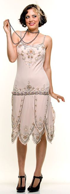 flapper dress dropped waist is perfect for a 20's costume :)