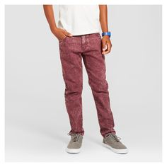 Boys' Acid Wash Jeans Berry Moment 14 - Mossimo Supply Co., Red