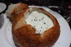 The best clam chowder of Boudin in San Francisco
