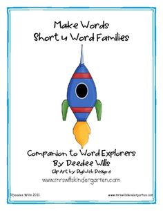 Extend student learning with this extension of Word Explorers.  This is a perfect literacy station for your emergent learners.  Word families featu...